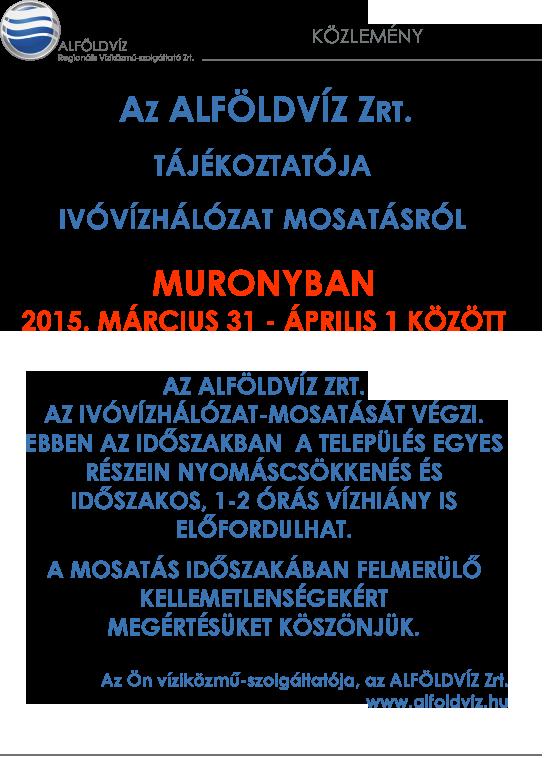 Alföldvíz plakát-tavaszi mosatás-Murony