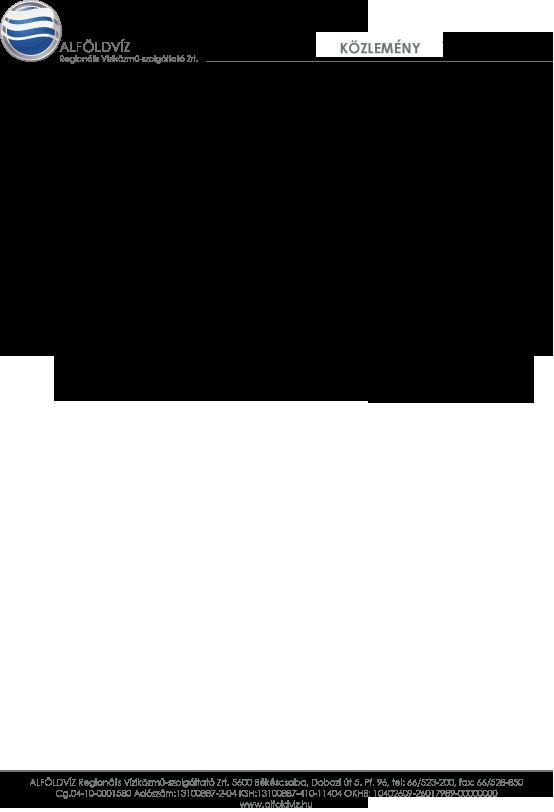Alföldvíz közlemény-őszi mosatás-Murony