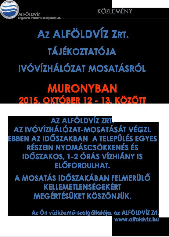Alföldvíz plakát-őszi mosatás-Murony