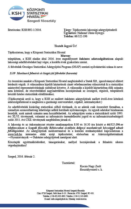 Murony KSH
